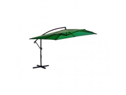 Slunečník kovový 8080 - 270 cm - zelený