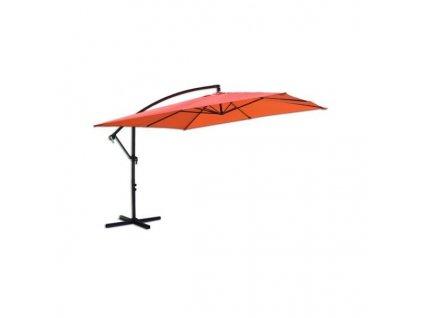 Slunečník kovový 8080 - 270 cm - terracota oranžová