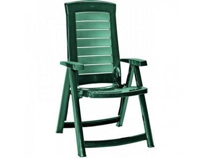 ARUBA polohovací křeslo - zelené