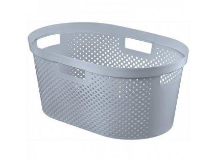 INFINITY DOTS koš na prádlo 39L - šedý