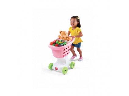STEP2 Dětský nákupní vozík růžový