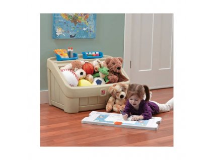 STEP2 Box na hračky 2v1 - béžový