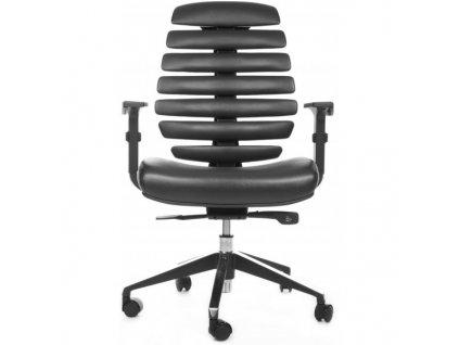 MERCURY - židle FISH BONES černý plast, černá koženka PU580165