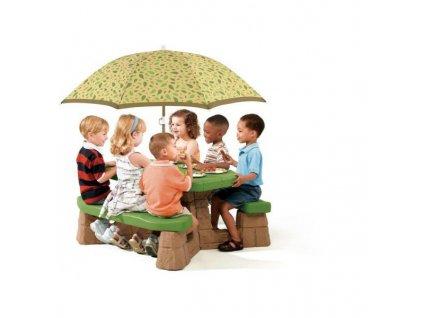 STEP2 Piknikový stůl velký se slunečníkem