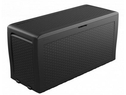keter 70g rattan crate standalone prespective gray render 01b