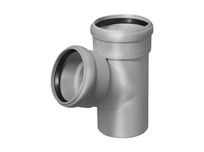 Tvarovka HT Odbočka HTEA plastová odpadní DN 70/70, 67° - vnitřní šedá