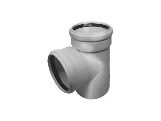 Tvarovka HT Odbočka HTEA plastová odpadní DN 125/100, 87° - vnitřní šedá