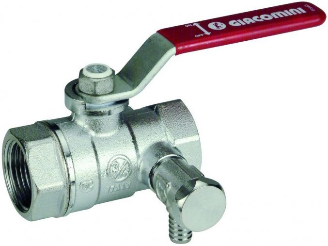 "Kohout R250DS s odvod. 1/2"" závitový Giacomini kulový voda pochromováno (Premium)"