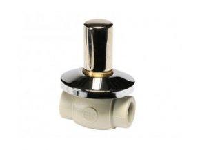 Podomítkový ventil kovový kryt LUX