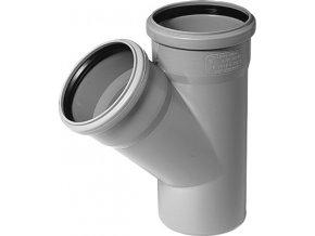 Tvarovka HT Odbočka HTEA plastová odpadní DN 100/70, 45° - vnitřní šedá
