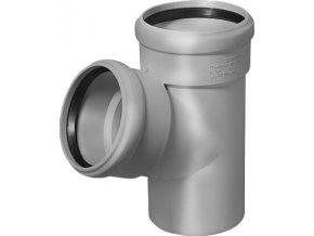 Tvarovka HT Odbočka HTEA plastová odpadní DN 100/70, 67° - vnitřní šedá