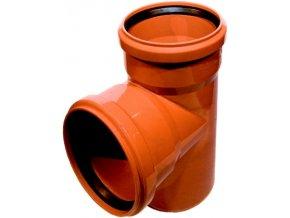 Tvarovka KG odbočka -KGEA plastová odpadní DN 200/200, 87° - venkovní oranžová