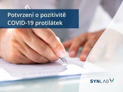 Potvrzení o pozitivitě protilátek COVID 19 e shop Synlab