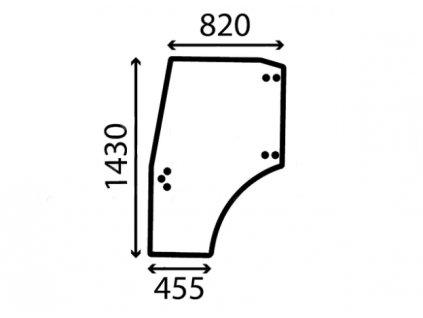 Sklo dveří levé 0.012.5720.0/10