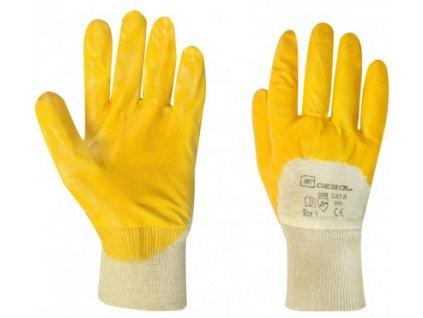pracovni nitrilove rukavice yellow nitril velikost 8 blistr