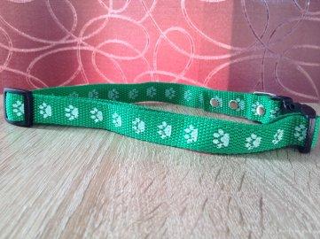 Obojek nylonový zelený 41-60cm