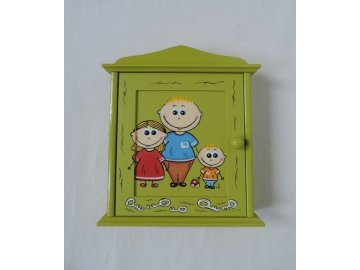 Schránka/domeček na klíče - Rodinka
