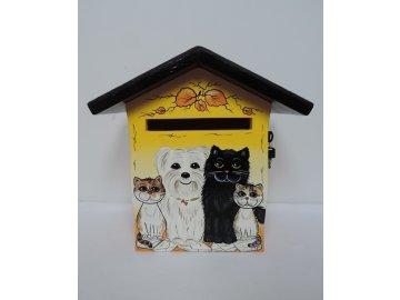 Poštovní schránka DOMEČEK - kočky a pes