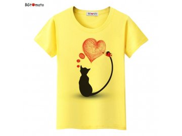 Dámské tričko - Malující kočka