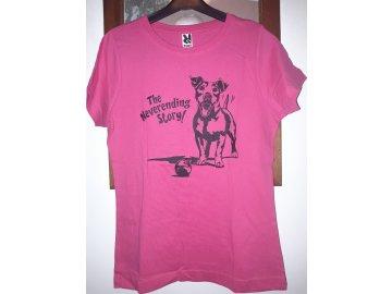 Tričko vel.S tm.růžové 1ks