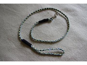 Ručně pletené vodítko 110 cm- žlutá, sv.modrá, tm. modrá