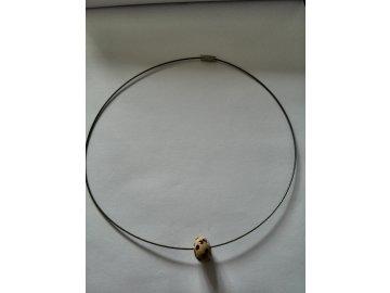 Náhrdelník - kulička na strunce