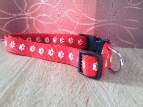 Obojek nylonový červený M-L