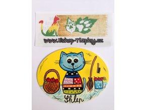 Dřevěná cedulka na dveře - Sklep  kočka