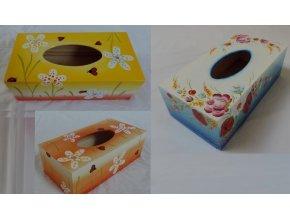 Dřevěná krabička na kapesníky