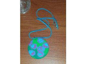 Náhrdelník 28cm - zelený kulatý