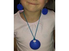 Sada - náušnice + náhrdelník (modrá )
