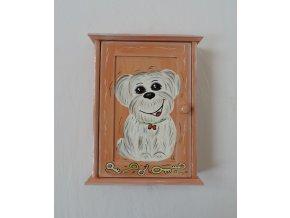 Schránka/domeček na klíče - Pes hnědá