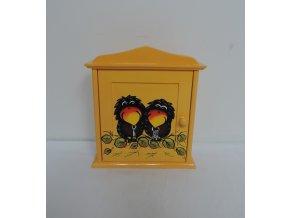 Schránka/domeček na klíče - Havránci oranžová