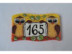 Dřevěná cedule - SOVIČKY - domovní číslo