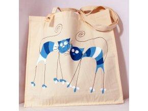 Taška velká - modré kočky