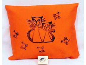 Pohankový polštářek s levandulí, oranžový