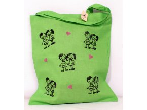 Taška plátěná zelená - děti