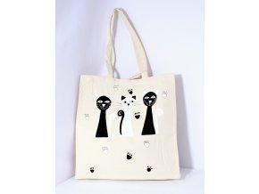 Taška velká černobílé kočky
