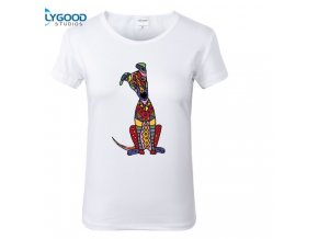 Dámské tričko - Barevný super pes