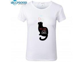 Dámské tričko - Tahle holka miluje kočky