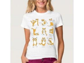 Dámské tričko - Kočičí cvičení