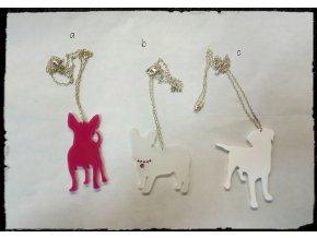 Plexi náhrdelník - pes