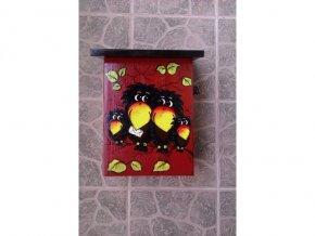 Poštovní schránka rodinka havranů