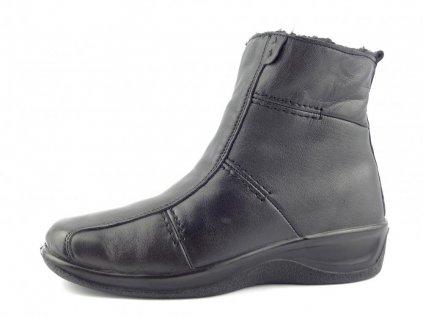 kotnikova obuv cerna 4219 fur 8094