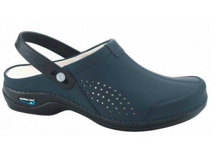 Screenshot 2021 10 04 at 13 31 32 VENEZA pracovní kožená pratelná obuv s certifikací unisex s páskem tmavě modrá WG3AP03 Nu[...]