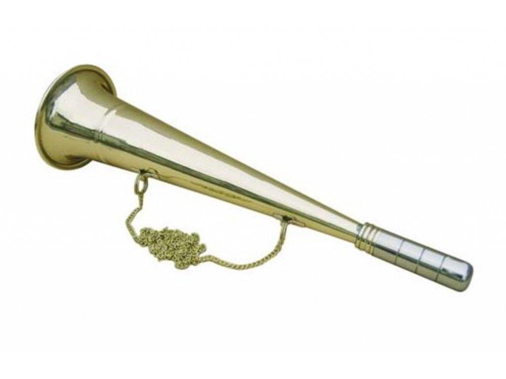 Signální trubka do mlhy mosazná klasická 33,5 cm