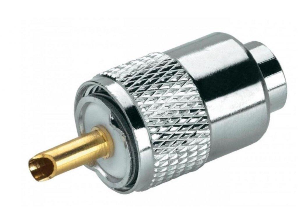 Konektor PL-6 zlatý