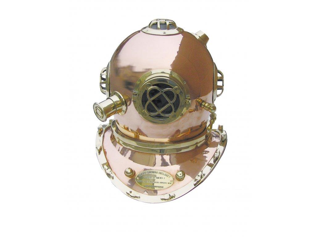 Potápěčská helma - přilbice mosazná 48 cm