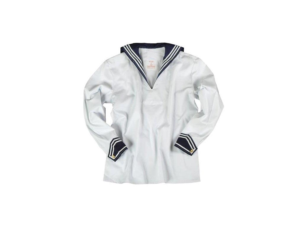 Košile BW Marine s límečkem Bílá