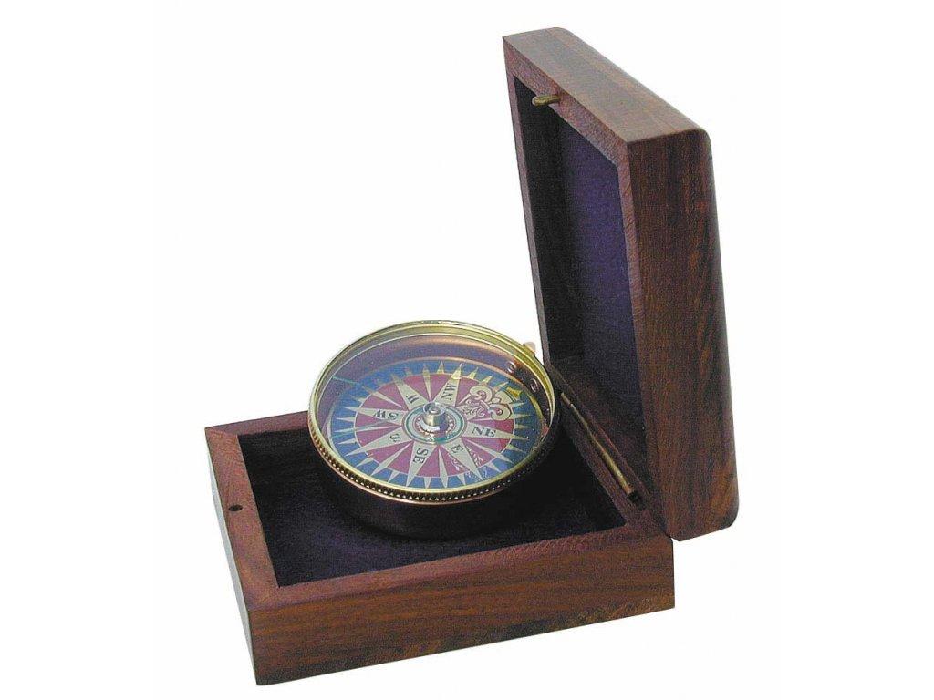 Kompas s větrnou růžicí měď a mosaz